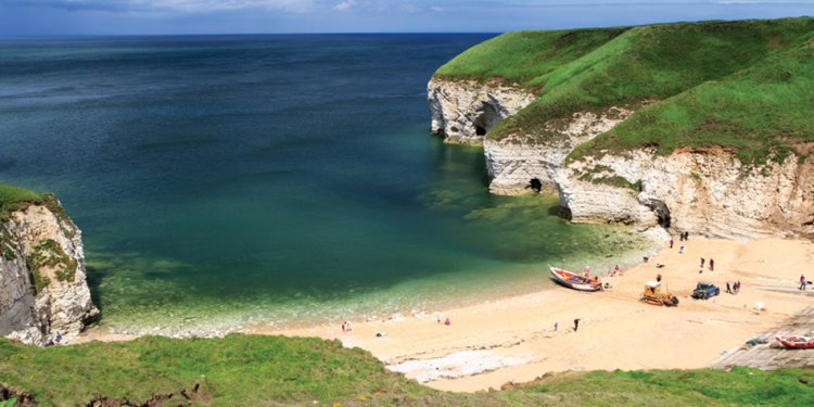 Flamborough beach in Yorkshire